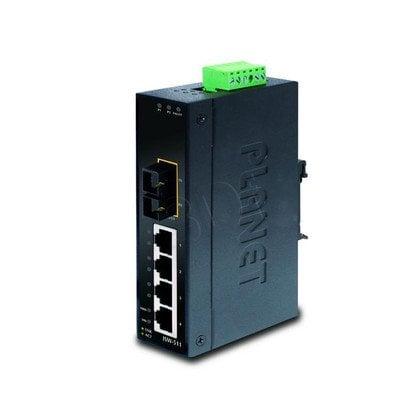PLANET ISW-511S15 Switch Przemysł. 4p + 1p SM 15km