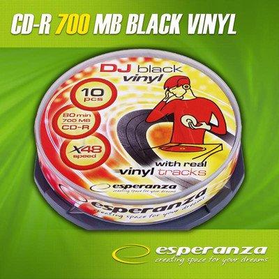 CD-R Esperanza 700MB/80MIN 52xSpeed VINYL BLACK (Cake 10szt)