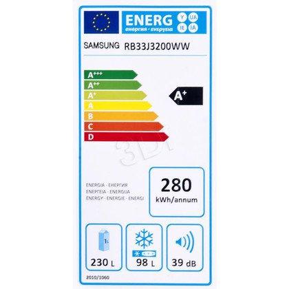 Chłodziarko-zamrażarka Samsung RB33J3200WW/EF (595x1850x668mm biały A+)