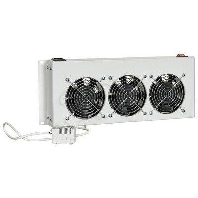 Triton panel wentylacyjny z termostatem do szaf wiszących RAC-CH-X26-X1 (3x wentylator 230V/45W, kolor jasnoszary RAL7035)