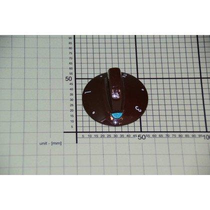 Pokrętło brązowe płytki grzejnej 3 z lewej zielony wskaźnik (8005578)