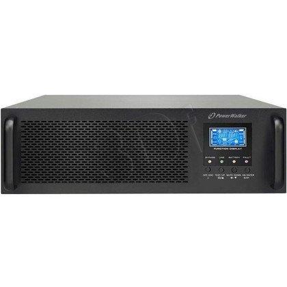 POWER WALKER UPS ON-LINE 10000VA ZŁACZE TRMINALOWE IN/OUT, LCD, UPS 3U+MODUŁ BATERYJNY 2U