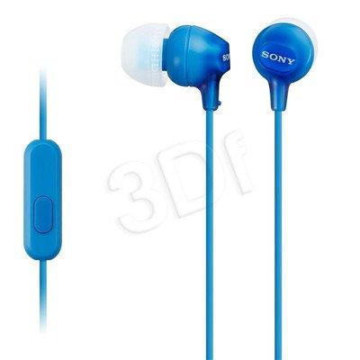 Słuchawki douszne z mikrofonem Sony MDR-EX15APL (Niebieski)