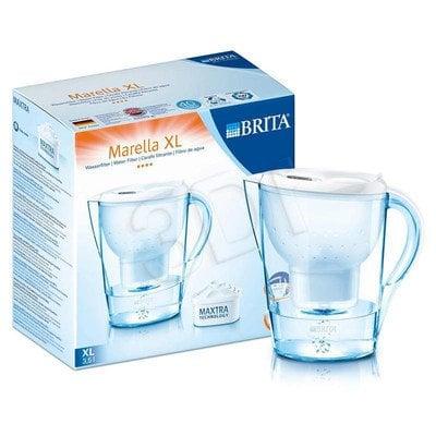 Dzbanek filtrujący BRITA Marella XL biały + 4 wkłady Maxtra (biały)