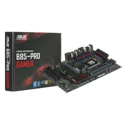 ASUS B85-PRO GAMER Intel B85 LGA 1150 (2xPCX/VGA/DZW/GLAN/SATA3/USB3/DDR3/CROSSFIRE)