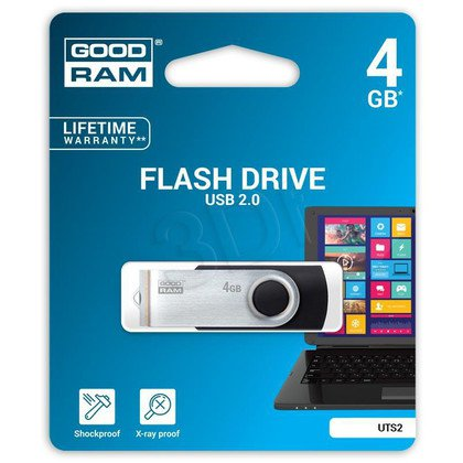 Goodram Flashdrive Twister 4GB USB 2.0 czarny