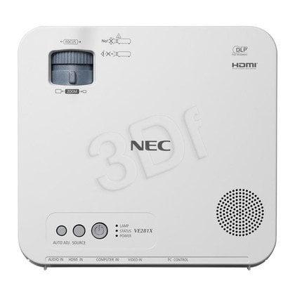 PROJEKTOR NEC VE281X DLP XGA 2800 ANSI 3000:1 HDMI