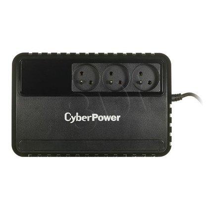 UPS CYBERPOWER BU600E-FR (VI,Tower, 600VA, 360W, 3xFR, 120W 18min / 50W 34min)