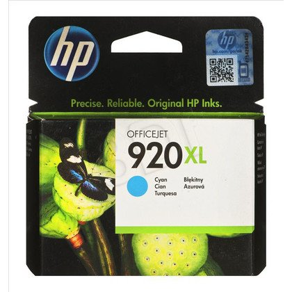 HP Tusz Niebieski HP920XL=CD972AE, 700 str., 6 ml
