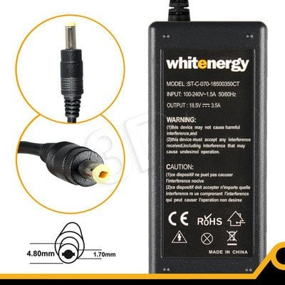 WHITENERGY ZASILACZ 18.5V/3.5A wtyk 4.8x1.7 mm (04096)