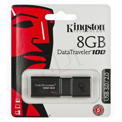 Kingston Flashdrive DataTraveler 100 G3 8GB USB 3.0 Czarny