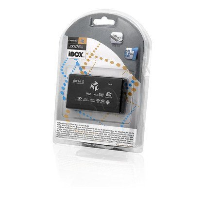 CZYTNIK KART I-BOX USB CZARNY (zew) - 6 SLOTÓW