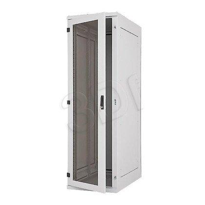 """Triton Szafa rack 19"""" stojąca RDE-45-A61-CCX-A1 (42U, 600x1000mm, przeszklone drzwi, kolor jasnoszary RAL7035 , klasa szczelności IP54, udźwig"""