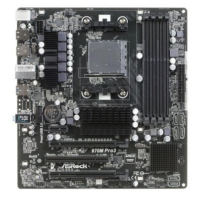 ASROCK 970M PRO3 A970 SAM3+ (PCX/DZW/GLAN/SATA3/USB3/RAID/DDR3/CROSSFIRE) mATX