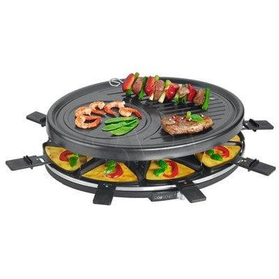 Grill elektryczny Clatronic RG 3517 (1400W stołowy-otwarty z raclette, czarny)