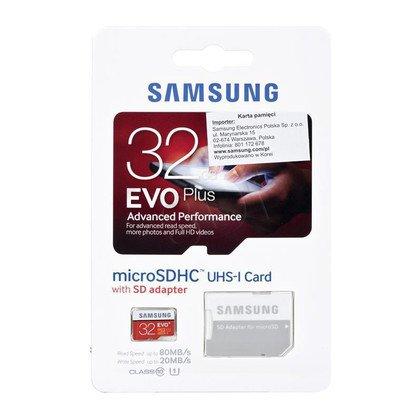Samsung micro SDHC EVO Plus 32GB Class 10,UHS Class U1 + ADAPTER microSD - SD