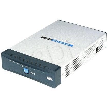 CISCO (RV042-EU) Router xDSL, 2xWAN, 4xLAN, VPN Firewall, (DSL, Kablówka)