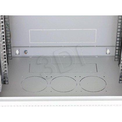 """Triton 19"""" Szafa wisząca jednosekcyjna RUA-18-AS4-CAX-A1 (18U, 400mm głębokość, przeszklone drzwi, kolor jasnoszary RAL7035, demontowalne panele"""
