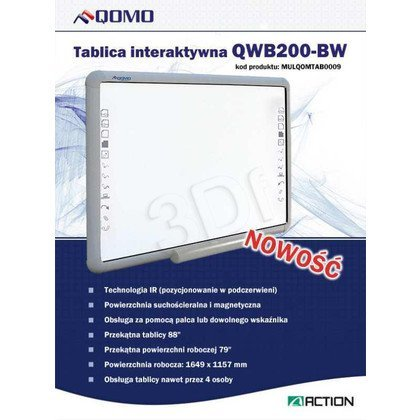 "TABLICA INTERAKTYWNA QOMO QWB200-BW 88"" (79"")"