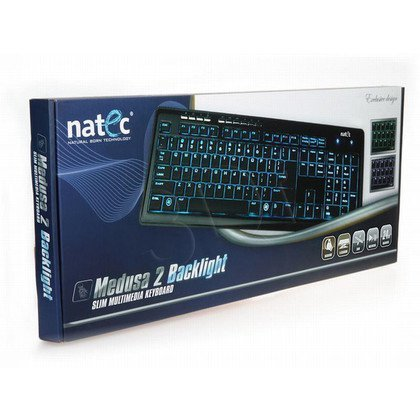 KLAWIATURA NATEC MEDUSA 2 BACKLIGHT BLACK
