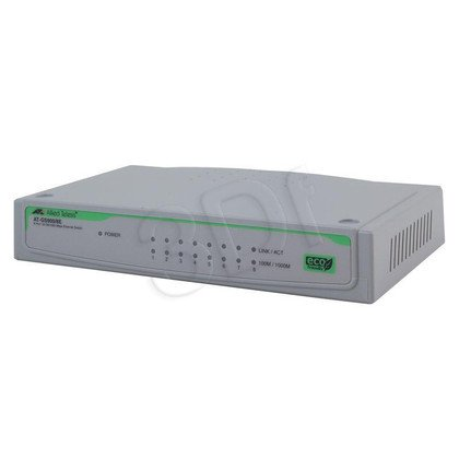 Allied Telesis Unmanaged (AT-GS900/8E) 10/100/1000TX, zew. zasilanie