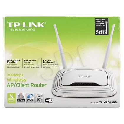 TP-Link router TL-WR843ND ( WiFi 2,4GHz)