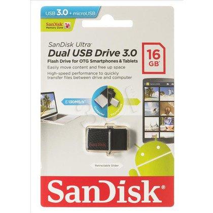 Sandisk Flashdrive ULTRA DUAL 16GB USB 3.0 Czarny