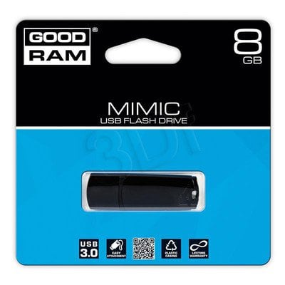 Goodram Flashdrive MIMIC 8GB USB 3.0 Czarny