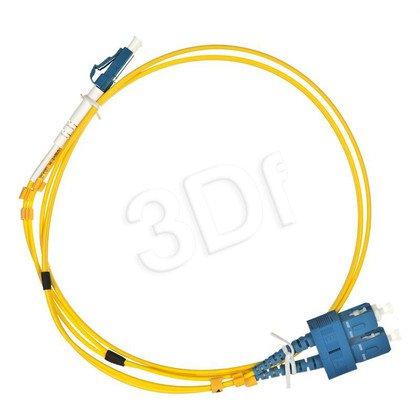 ALANTEC patchcord światłowodowy SM LSOH 1m LC-SC duplex 9/125 żółty