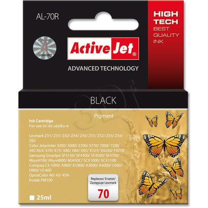 ActiveJet AL-70R tusz czarny do drukarki Lexmark (zamiennik Lexmark 70 12A1970)