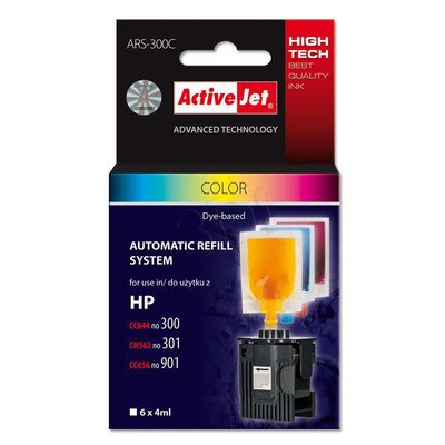 ActiveJet Automatic Refill System HP 300/301/901 Col 6x4ml ARS-300C
