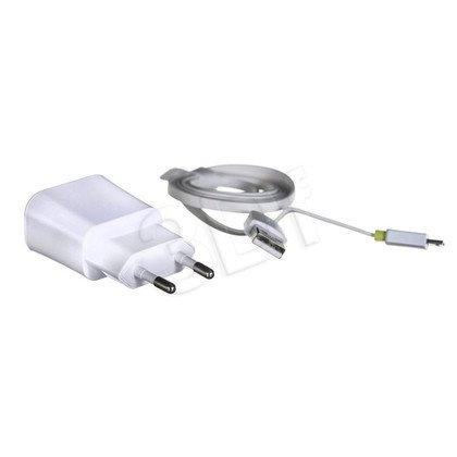 ZESTAW ŁADOWAREK SAMOCHODOWA+ŚCIENNA I-BOX 3W1 KIT USB 2.1A