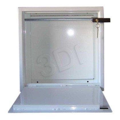 SZAFKA STALOWA PEŁNA 500x500x250mm (kłódka) biała