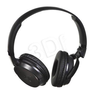 Słuchawki nauszne z mikrofonem Philips SHB3185BK/00 (Czarno-szare Bluetooth,NFC)