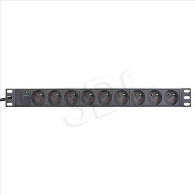 ALANTEC Listwa zasilająca przepięciowa PZ092 (9szt. gniazd czarna 3m)