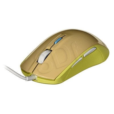 Steelseries Mysz przewodowa optyczna RIVAL 100 4000cpi złoto-zielona