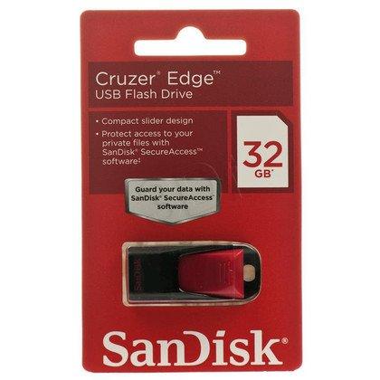 Sandisk Flashdrive CRUZER EDGE 32GB USB 2.0 Czarno-czerwony