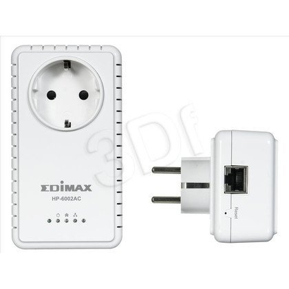 Edimax HP-6002ACK Powerline 600Mb/s 2szt. 1x1Gb/s Gniazdo AC (Pass Through 230V)