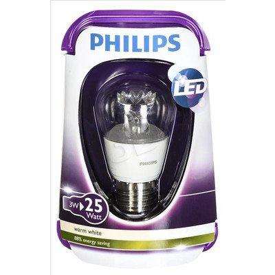 Philips żarówka LED 8718291743453 (kulista 250lm 3W E27 ciepła biel)
