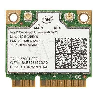 KARTA WI-FI INTEL DB CENTRINO ADVANCED-N 6235 2x2BT