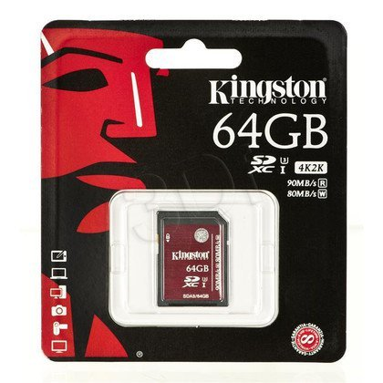 Kingston SDHC SDA3/64GB 64GB Class U3