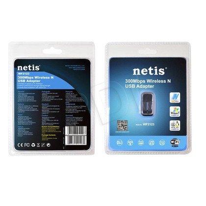 NETIS BEZPRZEWODOWA KARTA SIECIOWA USB MINI N 300MBIT/S WF2123