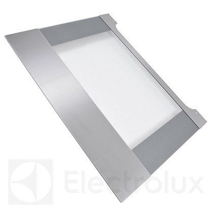 Zewnętrzna szyba drzwi piekarnika z obramowaniem ze stali nierdzewnej (3874970266)