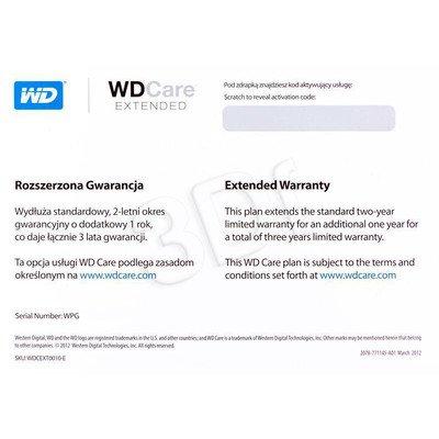 DODATKOWA GWARANCJA DYSKI WD CARE WDCEXP0010 1 ROK