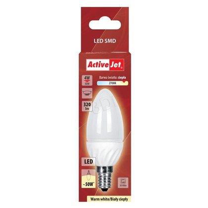 ActiveJet AJE-DS3014C-W Lampa LED SMD candle 320lm 4W E14 barwa biała ciepła