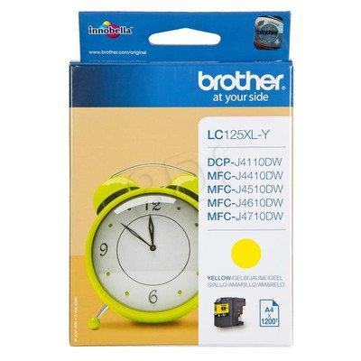 BROTHER Tusz Żółty LC125XLY=LC-125XLY, 1200 str.