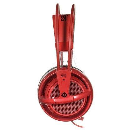 Słuchawki wokółuszne z mikrofonem Steelseries SIBERIA200 (Czerwony)