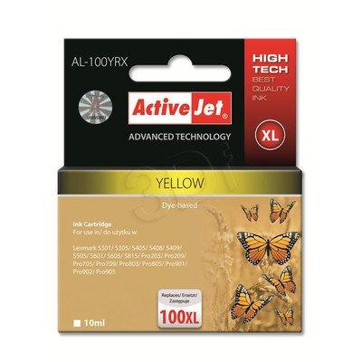 ActiveJet AL-100YRX tusz żółty do drukarki Lexmark (zamiennik Lexmark 100XL 14N1071) Premium