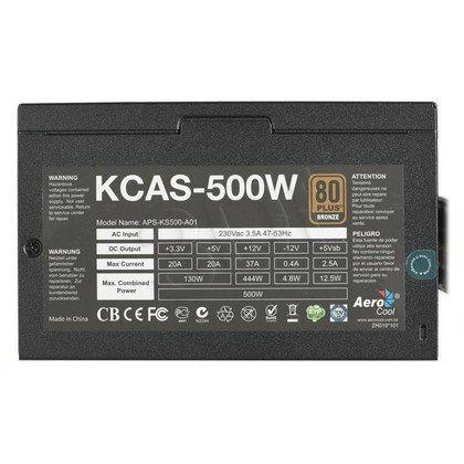 ZASILACZ AEROCOOL KCAS-500 (500W) 80+ BRONZE