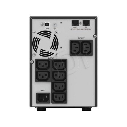 POWER WALKER UPS LINE-INTERACTIVE 1500VA 8X 230V IEC OUT, RJ45 IN/OUT, USB HID, LCD, CZYSTA FALA